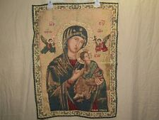 New listing Madonna Our Lady Of Perpetual Help Tapestry Fabric Picture ~ Italian ~ Religious