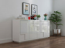 YIMILOVE High Gloss White Buffet Table/ Dresser/Cupboard