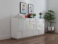 YIMILOVE High Gloss White Buffet Table/ Dresser/Cupboard