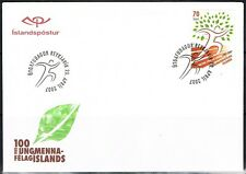 [CF1048] Islandia 2007, FDC 100 years Youth organisation (NS)