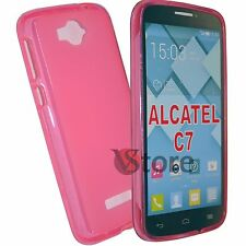 Cover For Alcatel One Touch Pop C7 7041D FUCHSIA GEL TPU silicone