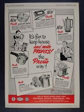 1954 Presto Kitchen & Home Products hardware trade vintage print Ad