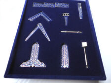 Freemason Miniature Working Tools set Presentation Case blue velvet Ex-Display