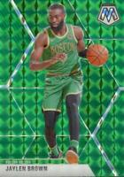 2019-20 Panini Mosaic Green Prizm Jaylen Brown #89 Boston Celtics