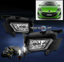 2010-2011 MAZDA 3 SEDAN HATCHBACK BUMPER CHROME FOG LIGHT +8000K HID KIT+HARNESS