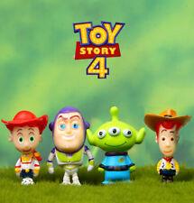 Toy Story 4 Woody Buzz Lightyear Jessie Alien Figure Toys Cake Toppers 3cm Mini