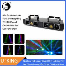 U`King 460mW 4 Linsen RGBY Laser DJ Bühnenbeleuchtung DMX512 Bar Club Show Licht