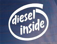 DIESEL INSIDE Novelty Car/Van/Truck/Boat/Window/Bumper Vinyl Sticker/Decal