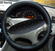 FOR MERCEDES CLK REAL BLACK ITALIAN LEATHER STEERING WHEEL COVER