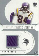 2004 RANDY MOSS Skybox LE Rare Form Jersey Silver /84
