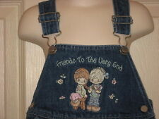 Toddler Girls Precious Moments Friends to the Very End Denim Overall Dress 3T