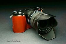 Handmade Genuine real Leather Half Camera Case bag cover for Samsung NX210 NX200