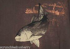 Guy Harvey Fishing Camiseta Gallineta Pez Marrón Cobre Barco Bluewater Talla L