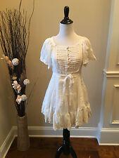 SNIDEL-free slip + JUNIOR lace crochet flower dress Japanese cosplay XS/S cream