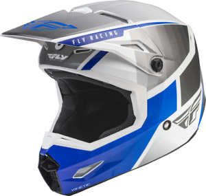 FLY RACING KINETIC DRIFT HELMET - BLUE/CHARCOAL/WHITE