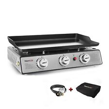 """Royal Gourmet 3-Burner 24"""" Portable Table Top Propane Gas Grill Griddle PD1301S"""