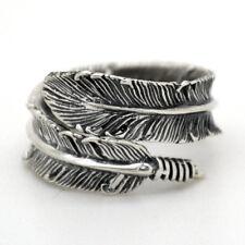 SEREBRA Feder Ring 925 Silber Sterling Vogel Vintage verstellbar