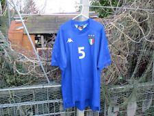 Kappa Italy Italia 1999-00 Home (L) Football Shirt Jersey #5 Fabio Cannavaro