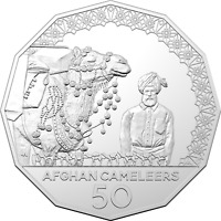 2020 The Afghan Cameleers 50c Uncirculated Coin