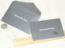 NEW ERMENEGILDO ZEGNA AUTHENTICITY CARD IN ENVELOPE