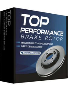 2 x Top Performance Brake Rotor FOR DAIHATSU CHARADE G101 (TD296)