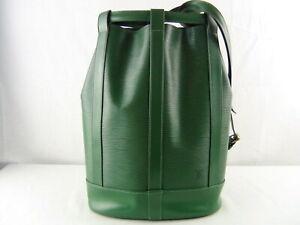 US seller Authentic LOUIS VUITTON EPI RANDONNEE PM SHOULDER BAG Good LV GREEN
