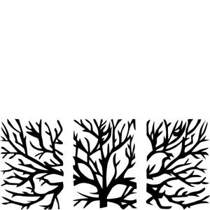 3 Piece Metal Tree Wall Art