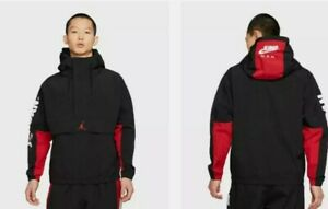Nike Air Jordan Jumpman Classics Windbreaker Bred Jacket Mens Size XL CV1864-010
