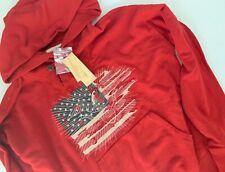 Ralph Lauren Denim Supply Eagle USA FLAG Shawl Collar Sweatshirt Hoodie M Medium