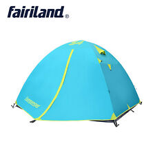 Outdoor Portable 3/4 Persons Double Layers Waterproof Easy Set Up Camping Tent