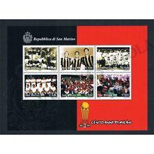 SM1070 - 1999 San Marino Foglietto 100 anni del Milan MNH/**