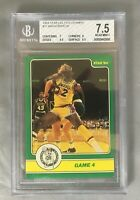 MAGIC 1984 STAR CELTICS 11 JOHNSON LARRY BIRD CHAMPS HOF ACTION BOSTON BGS 7.5