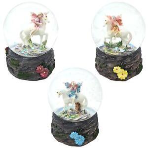Flower Fairy Unicorn Water Snow Globe Glitter Fairies Glass Waterball Gift Girls