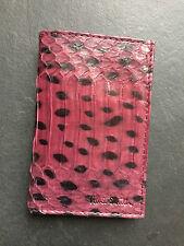 Paul Smith Hombres Violeta - piel de serpiente - 6 Tarjeta de Crédito Cartera