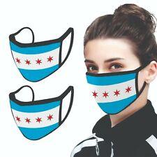 Chicago Flag Face Mask Cubs Bears White Sox Blackhawks