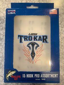 TroKar Hook Kit W/Case 25 Piece Walleye Kit Hard 2 Find Discontinued 15pc