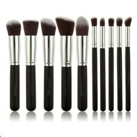 10Pcs Pro Makeup Brushes Cosmetic Beauty Contour Face Lip Blending Pencil Brush