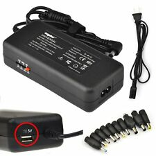 Universal Laptop AC Adapter Charger/Power Supply Cord USB/10tips 15V-24V