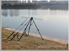 Portable Telescopic aluminium alloy stable tripod fishing rod holder max 6 rods