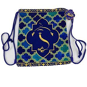 Disney Aladdin Broadway Musical Cinch Drawstring Backpack  Bag Purple Gold