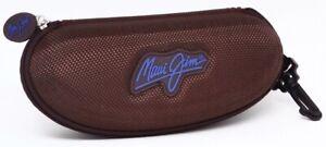 Maui Jim Zippered Sunglasses Sport Case Glasses Padded Protective Brown/Blue EUC