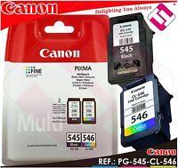PACK TINTA CANON PG 545 CL 546 NEGRA COLOR ORIGINAL CARTUCHO NEGRO PG-545 CL-546