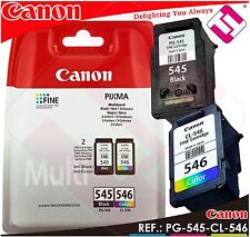PACK TINTA CANON PG 545 CL 546 NEGRA COLOR ORIGINAL CARTUCHO NEGRO PG-545 CL-546