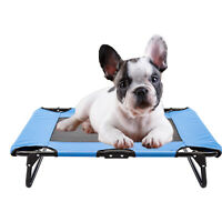 Elevated Pet Bed Puppy Dog Cot Hammock Folding Frame Ventilated Cooling Mesh Mat