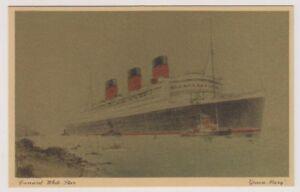 "Shipping postcard - Cunard White Star ""Queen Mary"" (A182)"