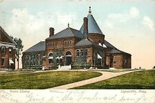 Vintage Postcard Public Library Somerville Ma Massachusetts Middlesex County
