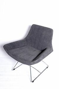 New Modern Contemporary Microfiber upholstery SELOX accent chair in Grey
