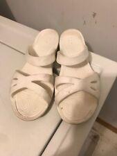 Crocs Kelli Sandals Womens 9 White Slide Slip On 203991 *flaws*