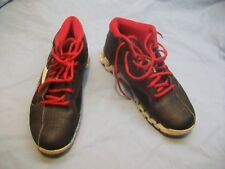 "≡  REEBOK ZIGFURY ZIGTECH Red/Black Leather/Mesh 5""-High Basketball Shoes-Size 8"