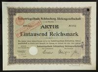 GERMANY 941/B&G -Industriegelände Schöneberg Aktiengesellschaft 1000 Mark 1906